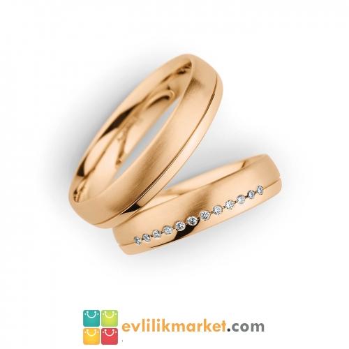 - Evlilik yüzüğü rose color
