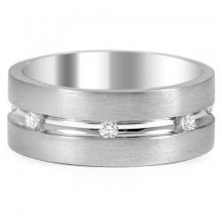 Taşlı Gümüş Alyans Modeli - Thumbnail