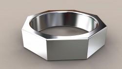 8 Kenarlı Gümüş Alyans - Thumbnail