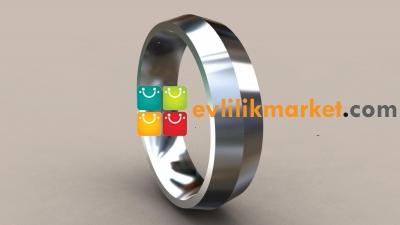 Gümüş Alyans Modelleri 6.5 mm