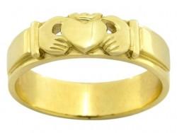 Gelin Damat Alyans - İki el içinde kalp figürlü alyans modeli