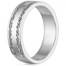Motifli Gümüş Alyans - Thumbnail