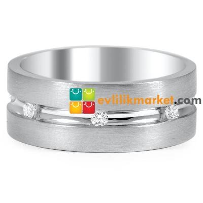 Taşlı Gümüş Alyans Modeli