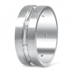 Gelin Damat Alyans - Taşlı Gümüş Alyans Modeli