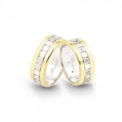 Gelin Damat Alyans - Wedding Ring - 7,30 MM 7 GRAM - sa-1258